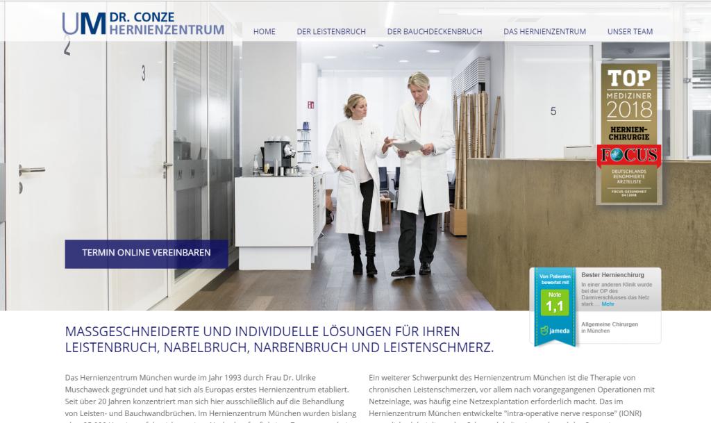 Professionelles Webdesign – Homepage Design für Ärzte – Kliniken – Spezialisten